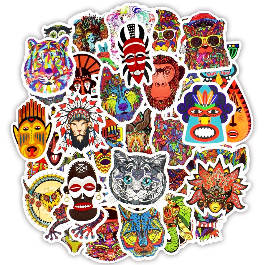 50Pcs Funny Cartoon Stickers for Skateboard Luggage Laptop Helmet Car Graffiti