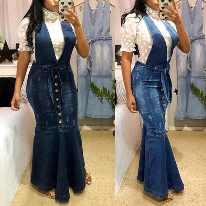 Jean Mermaid Dress,denim maxi dress,denim maxi dress,