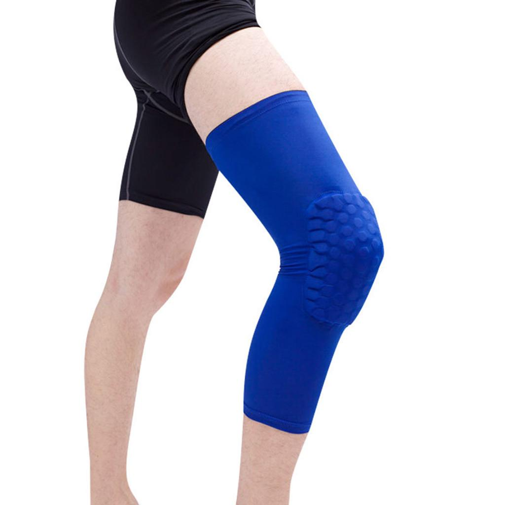 Sports Knee Pad Crashproof Antislip Basketball Leg Long Sleeve Protector Gear