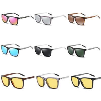 9 Colors Men Women Unisex Colorful Polarized Driving Sunglasses Aluminum Magnesium Leopard Leg Rectangle Shades Uv400 Eyewear Women's Glasses