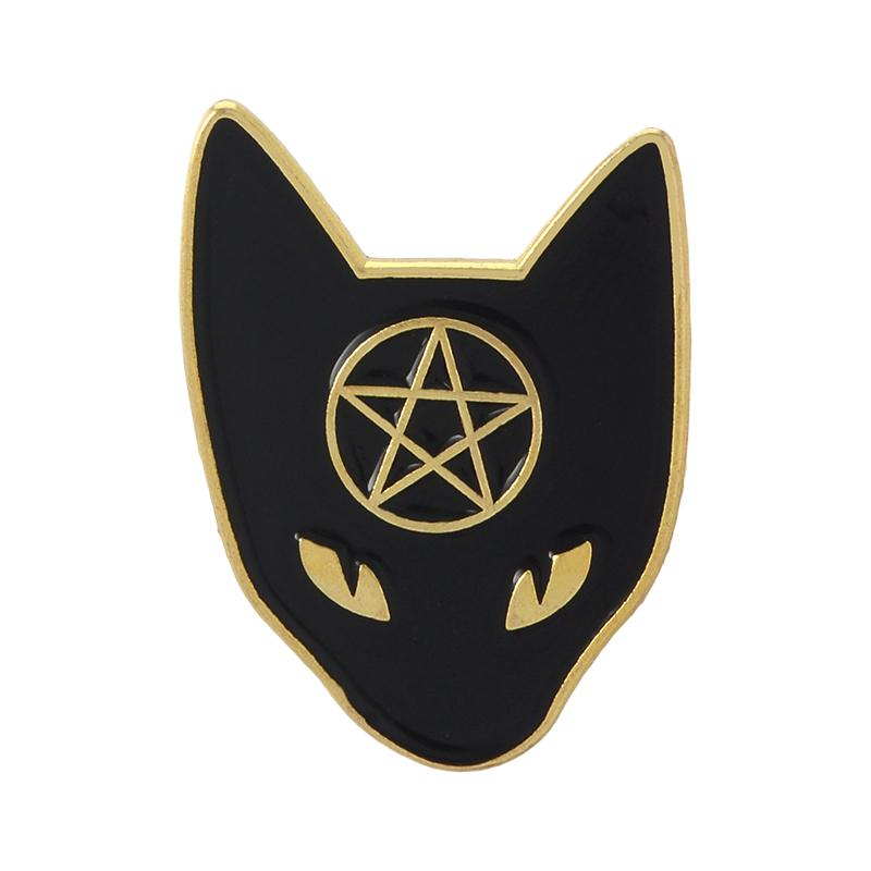 Gold Pentacle Coffin Pin