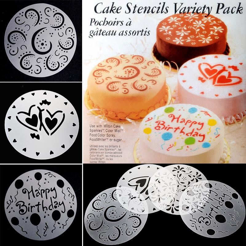 Popular Fondant Template Diy Mould Bakery Tools Decorating Birthday Cake Mold Flower Spray Stencils Plastic Buy At A Low Prices On Joom E Commerce Platform