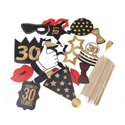 Paper Photobooth Props 30th Birthday Party Decorations Supplies For Man And Woman Creative Eventware