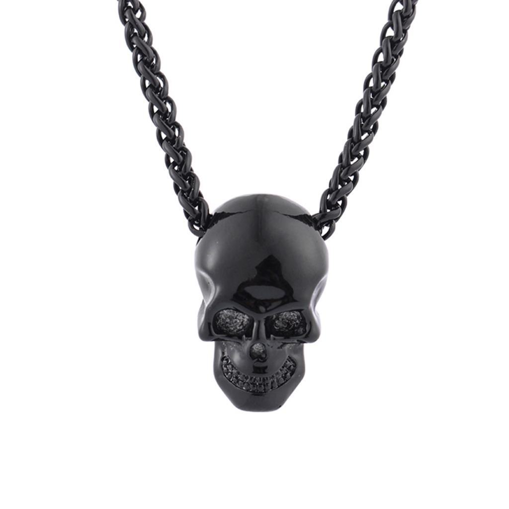 dark jewellery Men/'s pendant crow/'s skull gothic jewelry steam punk jewelry for man wooden necklace