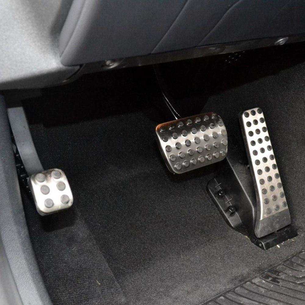 No Drill Car Fuel Brake Foot Pedals for Mercedes Benz C E S GLK SLK CLS SL Class