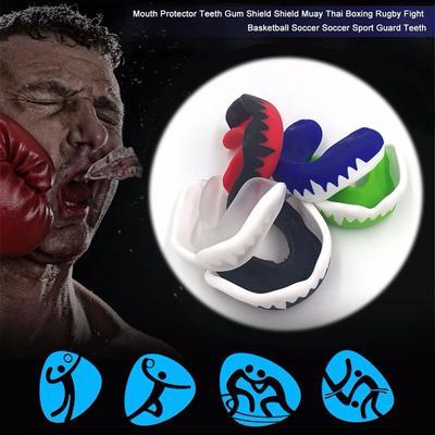 SENIOR Gum Shield Mouth Teeth Guard For Hockey Rugby MuayThai Kick Boxing Karate