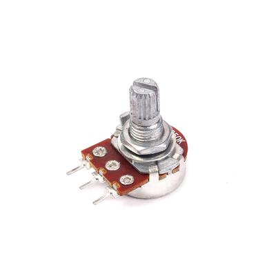 10 pcs B2K Potentiometer Pots Tone control 15mm Split Shaft 3 Pins