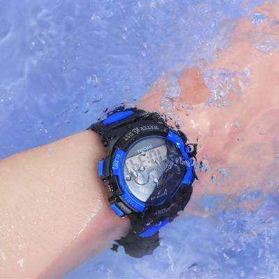 Waterproof Children Student Wrist Watch Boy Girl LED Light Display Digital Wristwatch