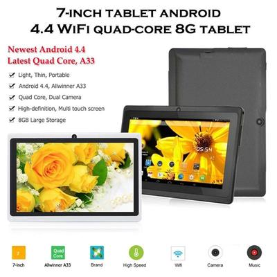 7 Inch Android Tablet A33 4GB Rom Memory Dual Core Dual Cameras Wifi  Multi-Color Kids Tablet PC