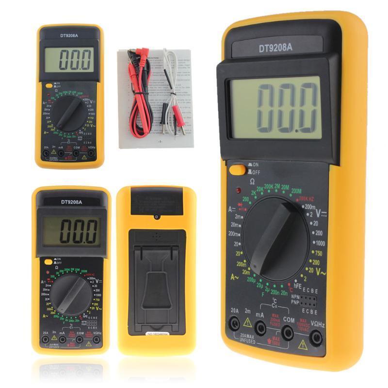 DC Mini Digital Strommesszange Widerstand Kapazität MagiDeal Handheld AC