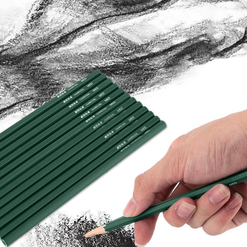 3pcs Drawing Sketching Painting Full Charcoal Artist Pencil Art Students School