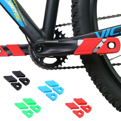 4Pc Bicycle Crank Cover Arm Sleeve Cycling Crankset Protect Chainwheel Protec/_kz