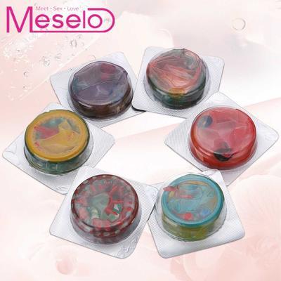 Meselo 6pcs/Box Condoms, Sensitive Dotted G-spot Vagina Stimulation, 6 Different Kinds Ultrathin Condoms, Adult Sex Toys For Men
