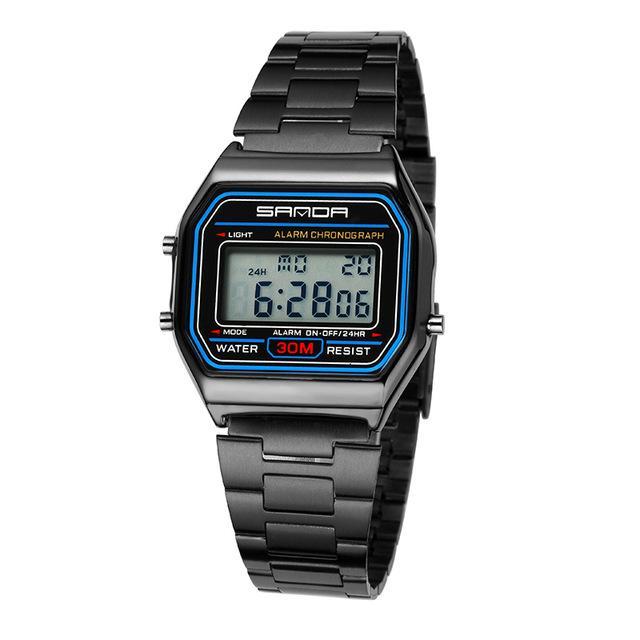 f5a44b32c27 SANDA casal de ouro relógios mulheres luxo Sport LED eletrônico Digital  homens relógio impermeáveis senhoras-comprar a preços baixos na loja  virtual Joom