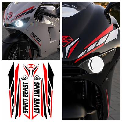 Universal PET Motorcycle Body Modification Mudguard Stripe Reflective Stickers