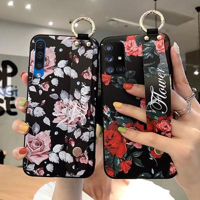 Wrist Strap Case For Samsung A42 5G A51 A71 S21 Ultra S20 FE S10+ Note 10 9 A50 A70 A20 A30 Phone Holder Case