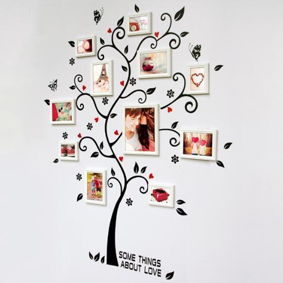 Casa de la familia foto marco árbol pared pegatinas decoración sala ...