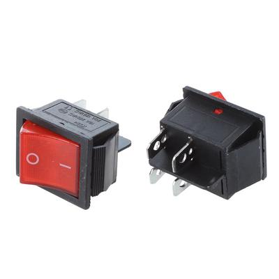 KCD1-11 10x15mm Mini Red 2pin Rocker Switch On-Off AC 3A250V//6A125V Push Switch