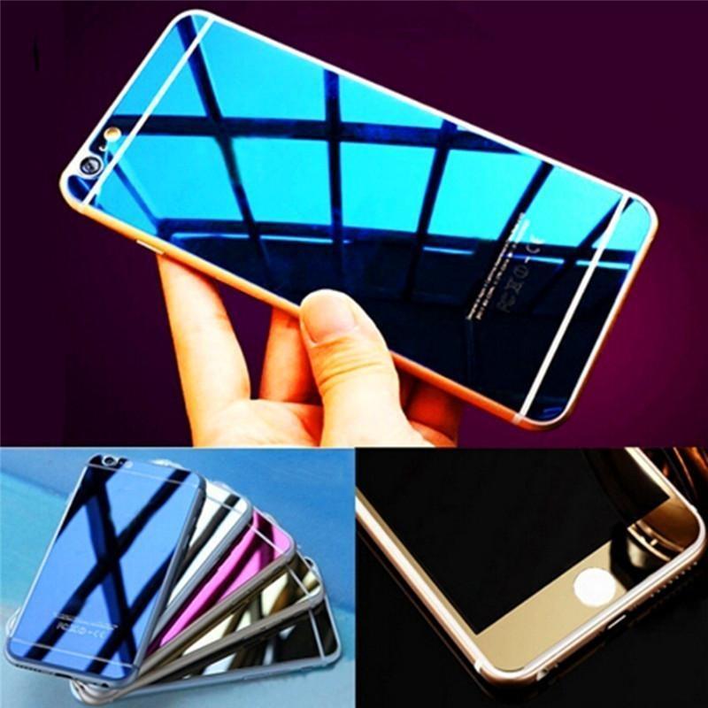 iphonehone6/6s全屏彩色电镀钢化膜 苹果6/6s电镀镜面全覆盖钢化玻璃膜 批发