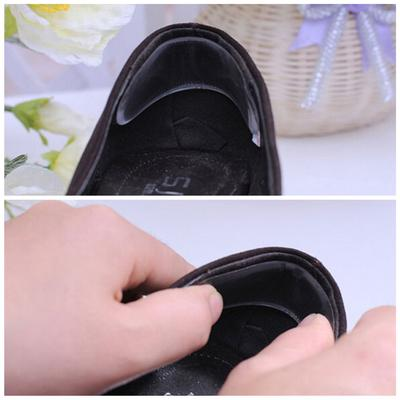 1 Pair Foot Care Cushion Insole Liner High Heel Shoes Back Leather Pad Insert EF