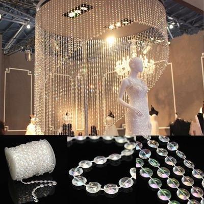 33FT Garland Diamond Strand Acrylic Bead Curtain Wedding DIY Party Decor