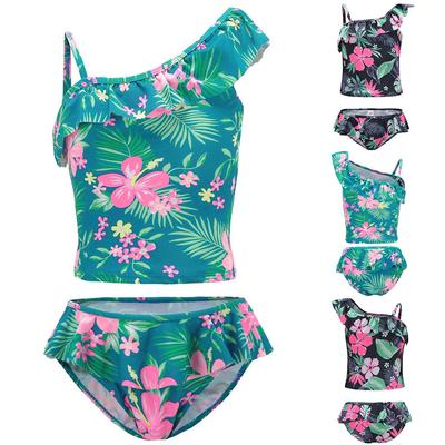 Toddler Infant Baby Girl Swimsuit Leopard Ruffle Swimwear Bikini Tankini Sunsuit 2Pcs Summer Bathing Suit