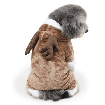 412e7db1d Adorable Coral Fleece Pet Dress up Costume Dog Cat Coat Jumpsuit Elk M