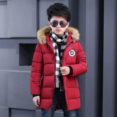 e46023523 Niño invierno abrigo niños niños grandes sección larga gruesa caliente con  capucha ropa de algodón de