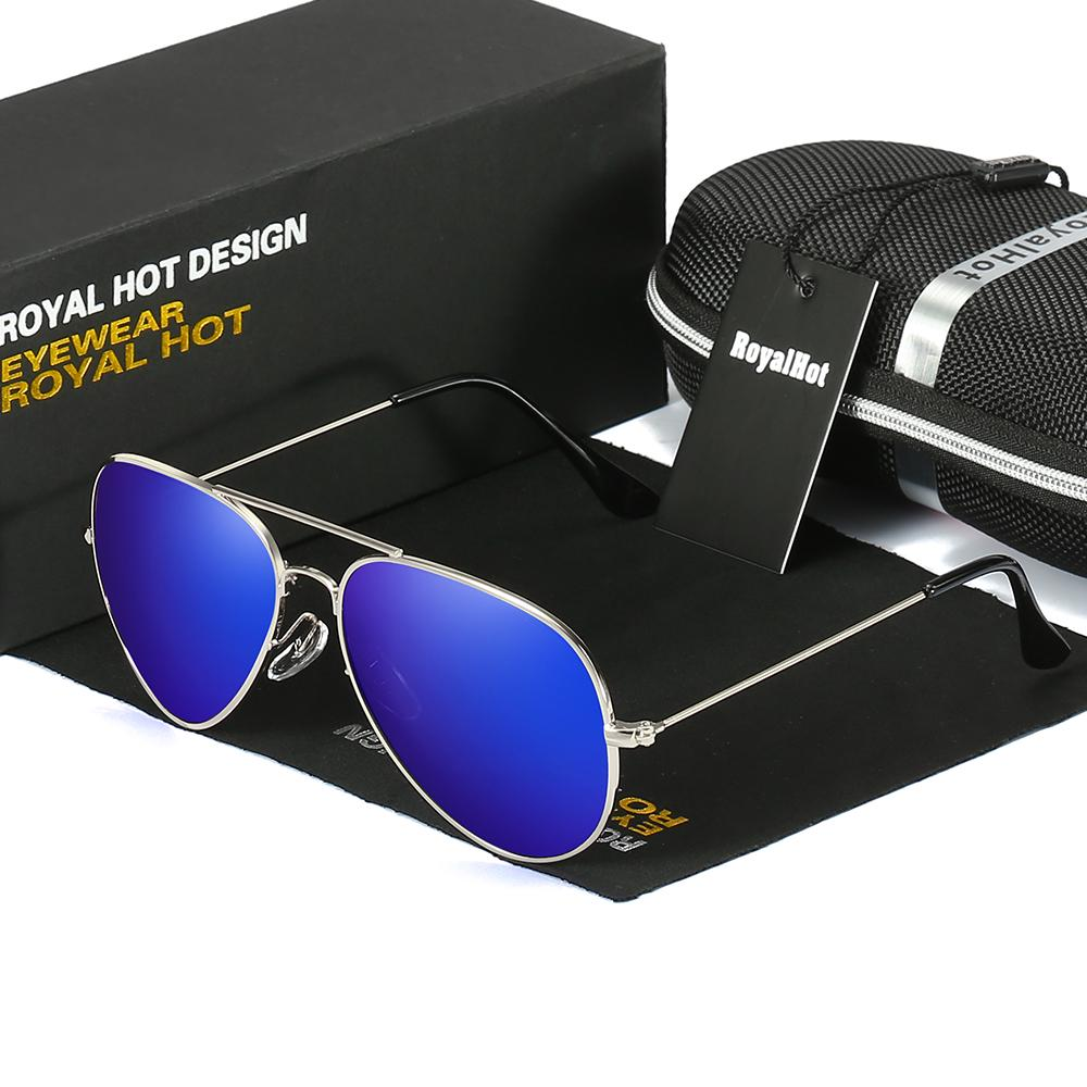 Ocean Blue Hot Fashion HD Driving Metal Frame Polarized Sunglasses Men Unisex