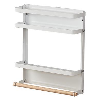 Blanco Organizador de cocina de pl/ástico Cuchillo Tenedor Cuchara Estante de almacenamiento Tarro de condimento Estante de especias