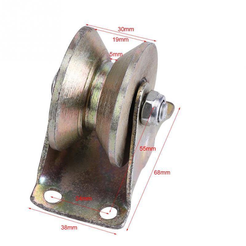 Sliding Gate Rollers 2Pcs//Set 2 V Groove Wheel Track Rail V Type Door Hardware for Sliding Gate Track
