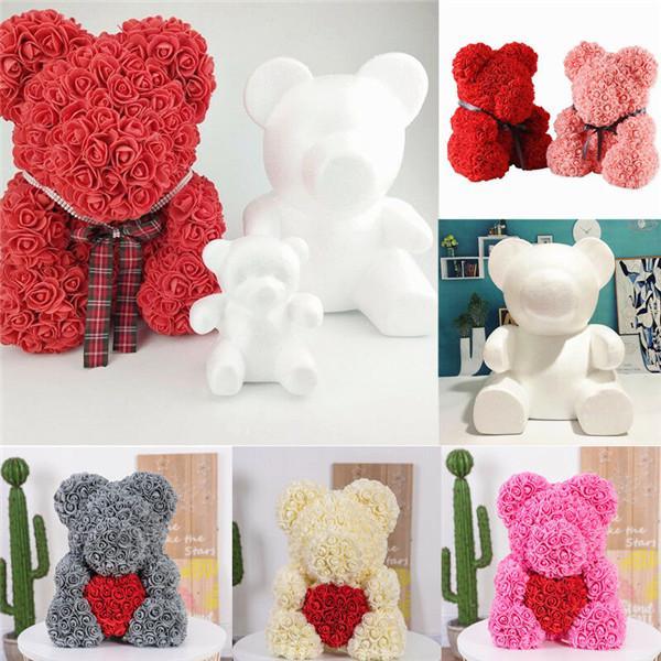 Polystyrene Styrofoam Foam Rose Bear Craft DIY Party Decoration Valentines Gifts