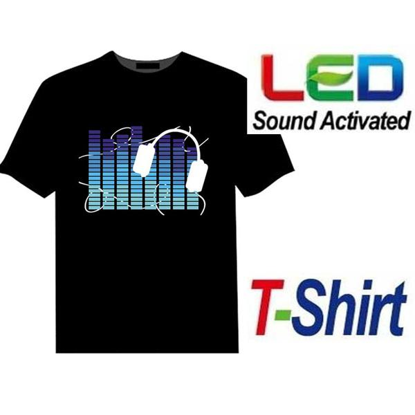 c9df4ded1674 2s16 Fashion Sound Activated Light Up Flashing Rock Disco Equalizer El  Short Sleeve Led T-shirt-buy at a low prices on Joom e-commerce platform