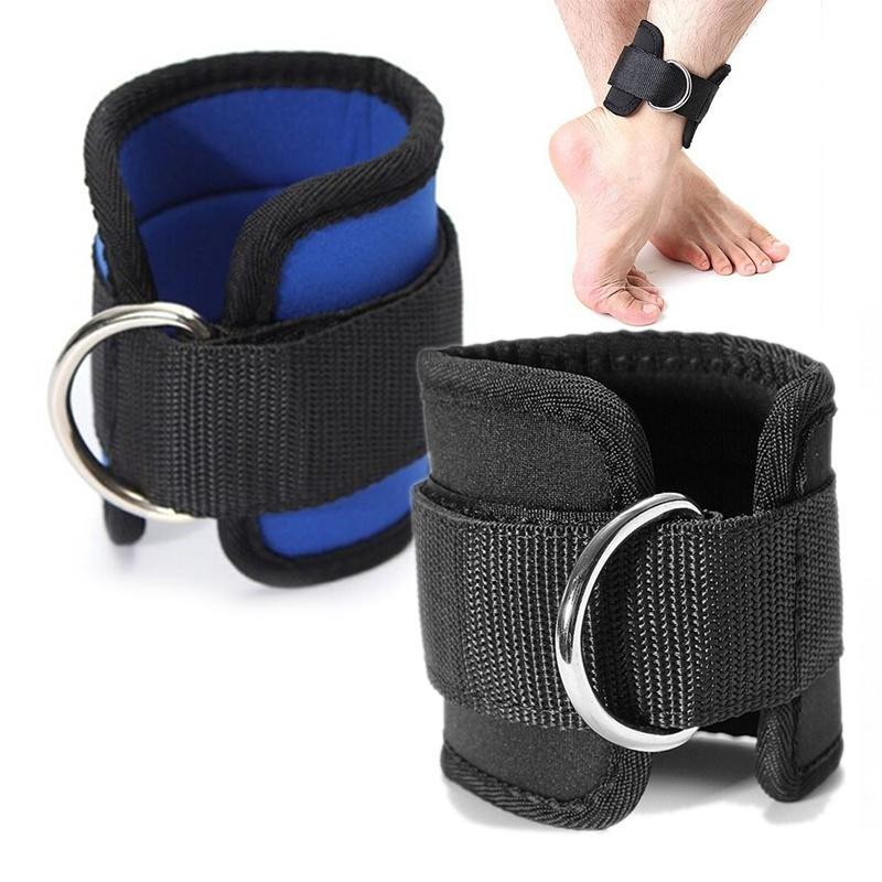 Weight Lifting Gym Ankle D-Ring Straps Pulley Cuff Ankle Strap ONE