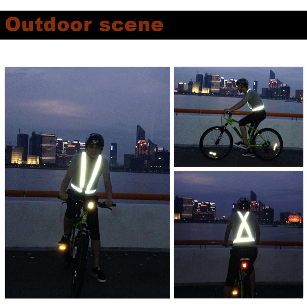 Bicycle Light Unisex Outdoor Cycling Safety Vest Bike Ribbon Bicycle Light Reflecing Elastic Harness For Night Riding Running Jogging Buy Now Back To Search Resultssports & Entertainment