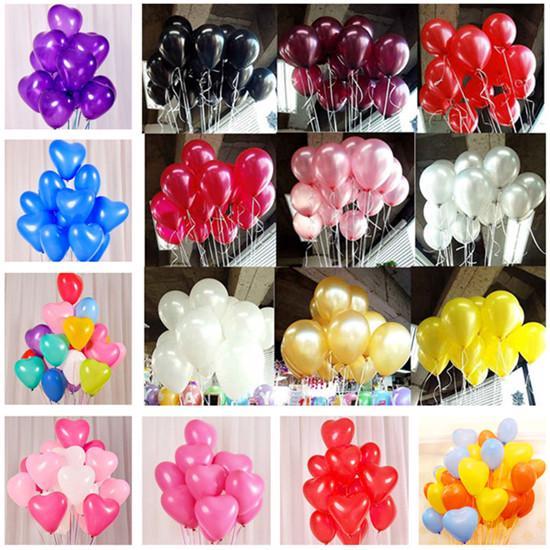10pcs Красное сердце латекс ные шары С Днем рождения Ballon День рождения Украшения Дети Свадебный шар фото