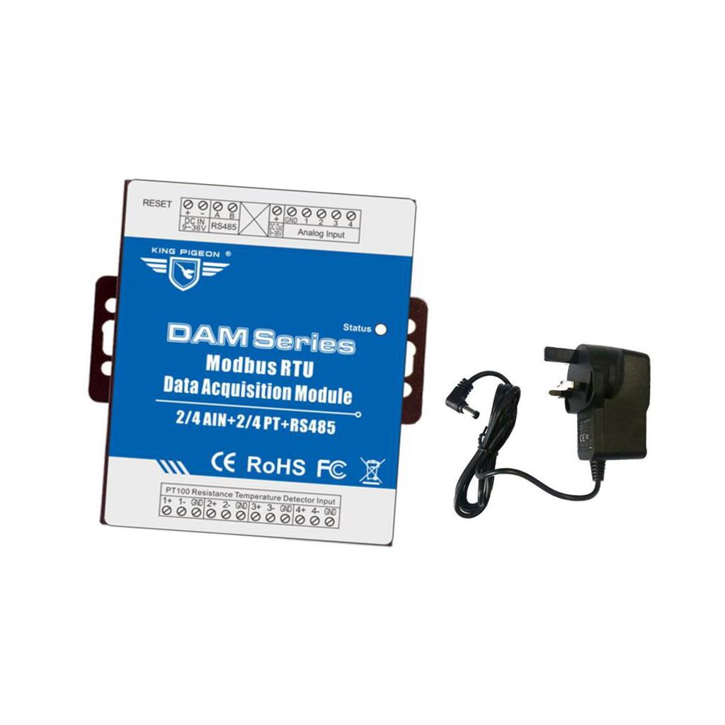 Data acquisition module dam118 modbus rtu data acquisition RS485 serial  port pt100 UK plug