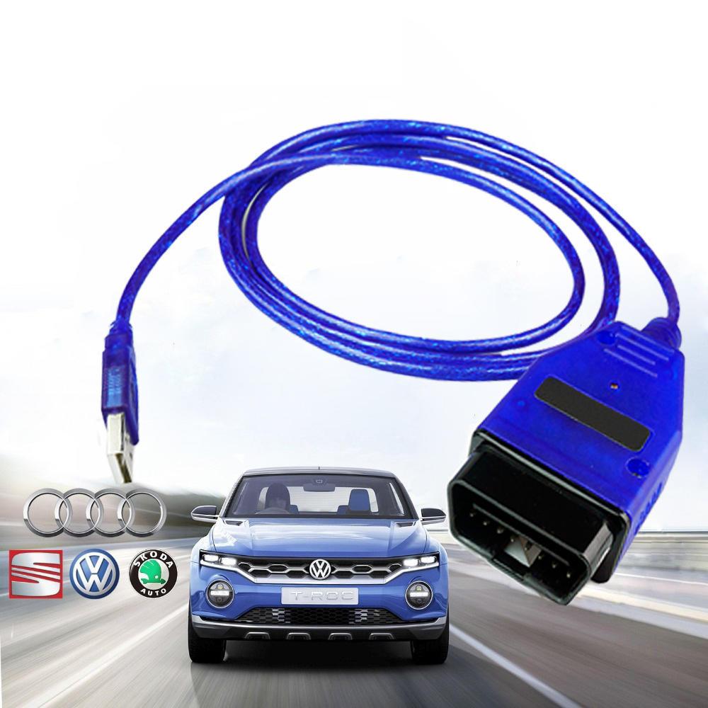 Vag com usb cable vag-com vcds cable USB scanner tool OBD 2 FTDI vag 409 1  for vw audi