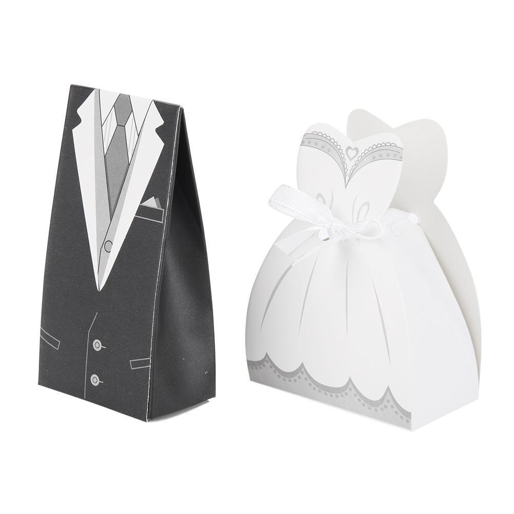 6PCS Wedding Party Candy Box Tinplate Flowers Candy Storage Box Creative
