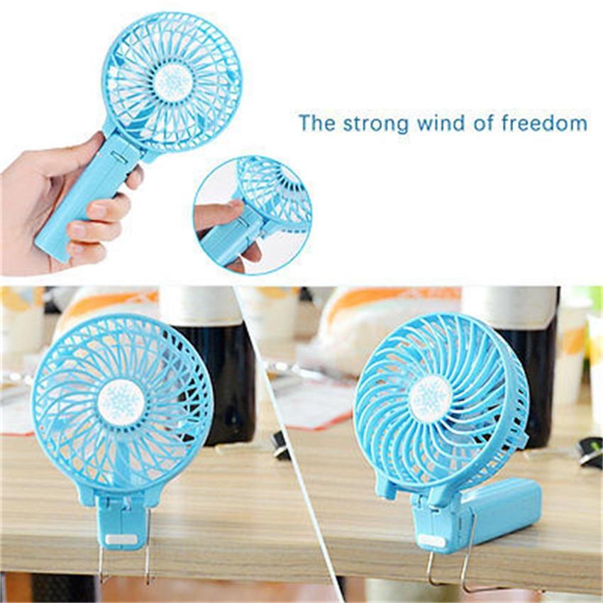Blue Handheld Battery Umbrella Clip Fan,Silent Strong Wind Mini Handheld Clip Fan Creative Fan,Handheld /& Desktop Fan,Mute USB or Rechargeable Battery Powered.