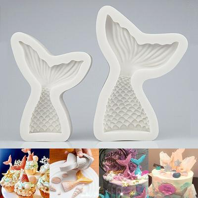 Mermaid 3D Cake Molds Silicone Shell Soap Candle Fondant DIY Mould Baby Party