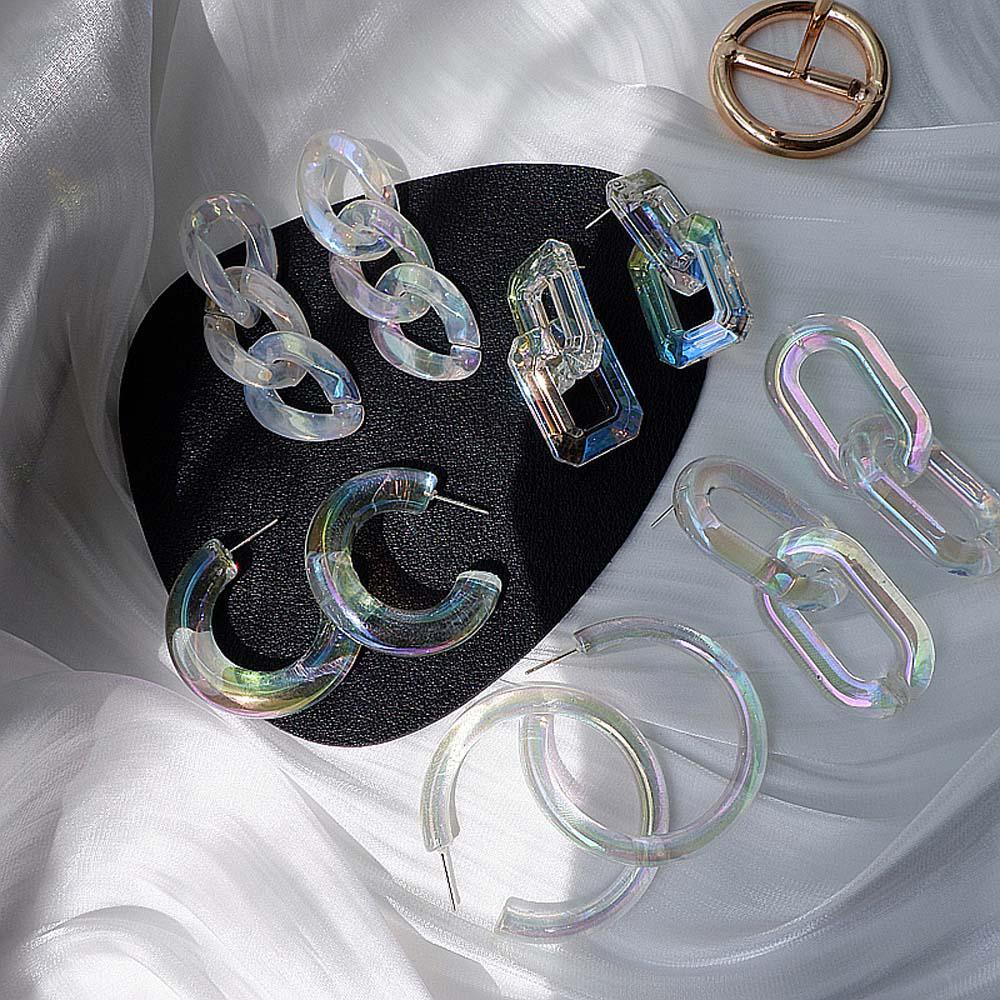 Русалка Цвет Прозрачный для партии геометрические серьги Dangle Мода ювелирные изделия акриловые серьги – купить по низким ценам в интернет-магазине Joom