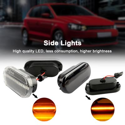Seat Ibiza MK4 Blue 4-LED Xenon Bright Side Light Beam Bulbs Pair Upgrade