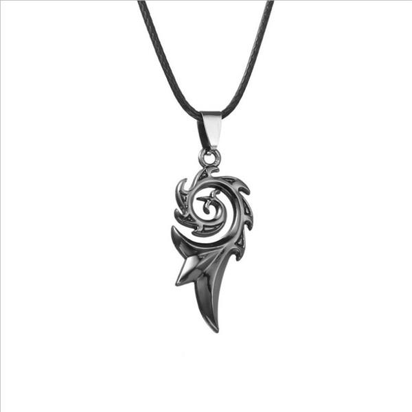 Flame bronze pendant