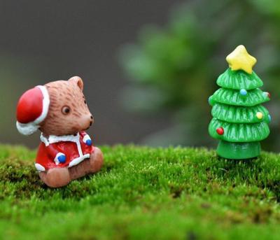Moose und Flechten Mikro Landschaft Pflanzen Santa Claus Bier ...