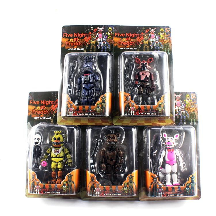 6 Pcs Set Lightening Five Nights At Freddy S Action Figure Toys Foxy Freddy Chica Dolls Kids Toy Buy At A Low Prices On Joom E Commerce Platform