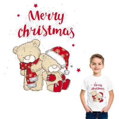Christmas Bears Cloth Patches Washable Appliques Clothes Fashion Diy Accessory Stickers