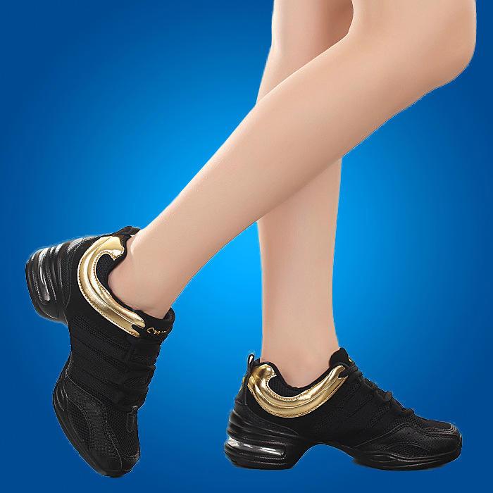 Взрослый танцевальной обуви современного танца сетки мягкой нижней джазовый танец обувь лето спорт Фитнес