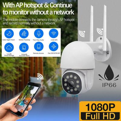 Idl 1080P HD Smart WiFi IP Camera CCTV PTZ Home Security Outdoor Wireless IR Cam