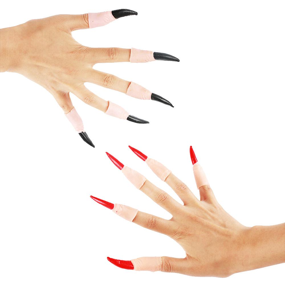 100PCS Halloween Witch Luminous Fake Fingers Party Props Costume Fingers Decor